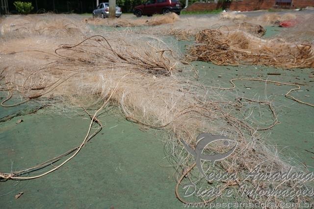 PMA apreende 1.400 m de redes no lago da Hidreletrica de Passo Fundo-RS