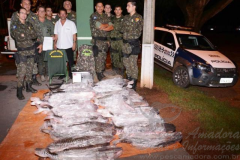 PMA apreende 152 kg de cachara e pintado apos receber denuncia no MT