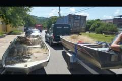 PMA apreende 3 mil metros de redes de pesca no Rio Paraiba-RJ