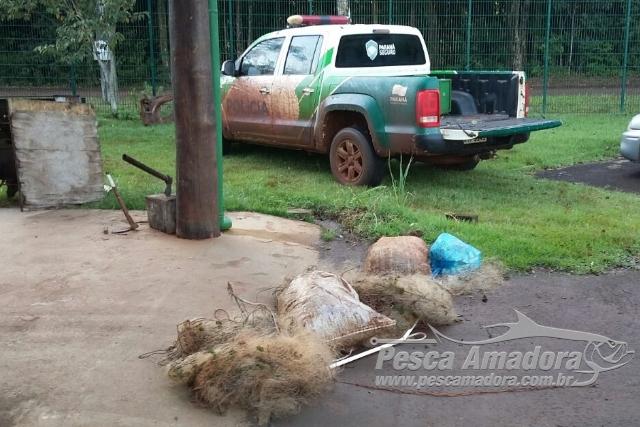 PMA apreende 475 m de redes durante fiscalizacao no Parana