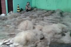 PMA apreende 76 redes utilizadas na pesca ilegal durante fiscalizacao no Parana 3