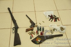 PMA apreende armas em fiscalizacao no MT