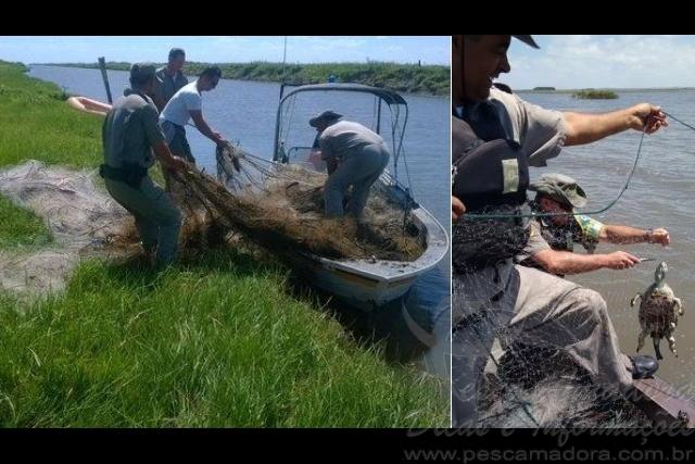 PMA apreende mais de 10 mil metros de redes e 300 kg de pescado ilegal no RS 2