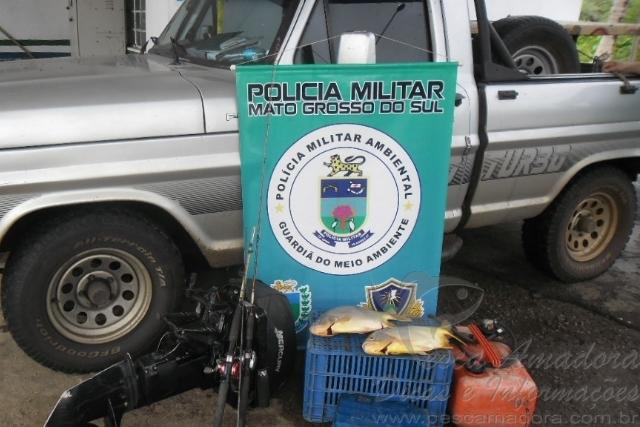 PMA apreende material e prende dois por pesca predatoria no Pantanal no MS