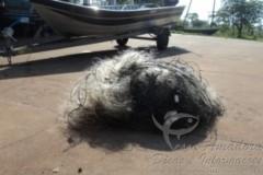 PMA apreende pescado e 400 metros de redes no Rio Pardo-MS 2