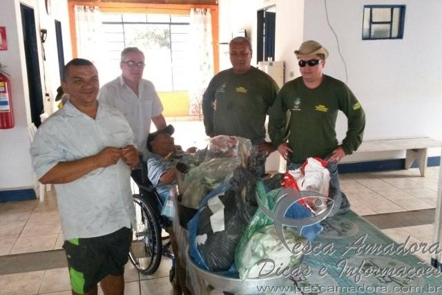 PMA apreende pescado ilegal no Rio Verdinho-GO
