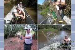 PMA apreende redes de pesca durante fiscalizacao no Rio Tibirica em Marilia-SP