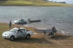 PMA apreende redes de pesca e pescado na represa de Chavantes