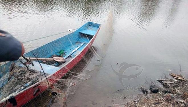 PMA apreende redes de pesca upam em marica-rj