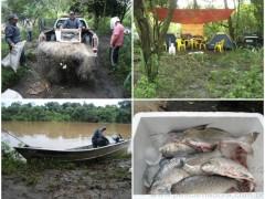 PMA apreende redes e pescado em Santa Rita do Passa Quatro-SP