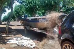 PMA apreende redes e pescado ilegal no Lago de Itaipu-PR