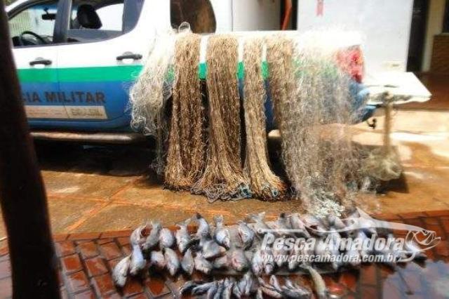 pma-apreende-seis-redes-e-28-kg-de-pescado-ilegal-no-rio-miranda-em-ms