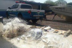 PMA autua dois por pesca ilegal apreende 300 m de redes e 110 anzois de galho no MS 3
