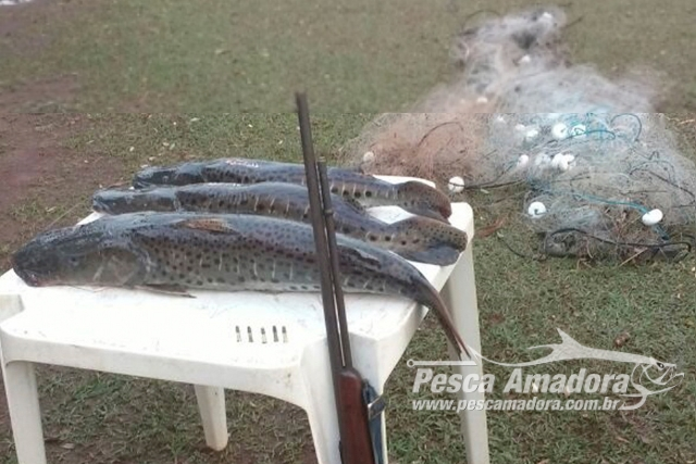 PMA autua duas pessoas por pesca ilegal no Rio Ivinhema-MS