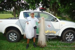 PMA flagra pesca ilegal e apreende tarrafas em Lencois Paulista-SP