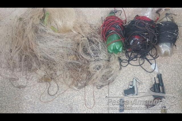 PMA prende dois por pesca predatoria e porte ilegal de armas em MS