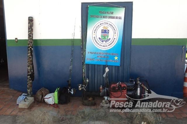 PMA prende e autua em R$ 3.200,00 quatro por pesca predatoria em MS 2