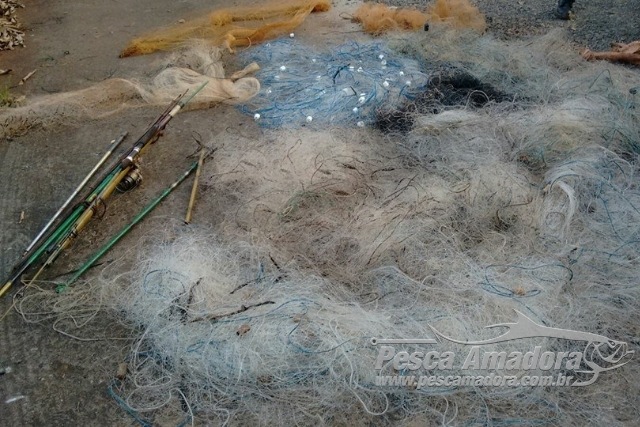 PMA retira 700m de redes irregulares na represa Capirava no PR 4