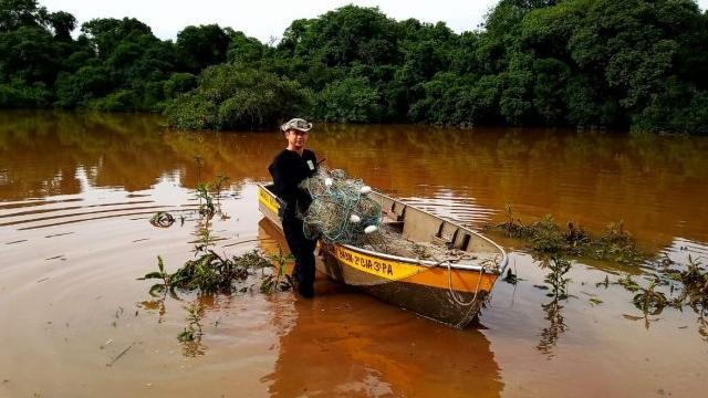Patram recolhe redes ilegais no rio Icaí em Capela de Santana (RS) - Portal Pesca Amadora Esportiva
