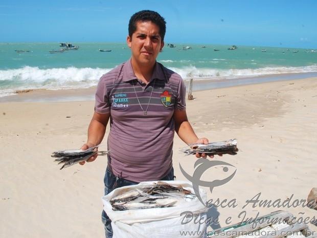 Pesca do peixe voador em Caicara-RN