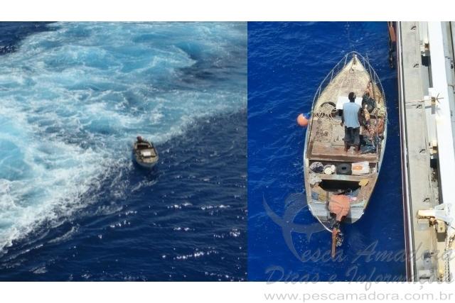 Pescador de Cabo Verde e  resgatado em aguas brasileiras apos 53 dias a deriva no oceano