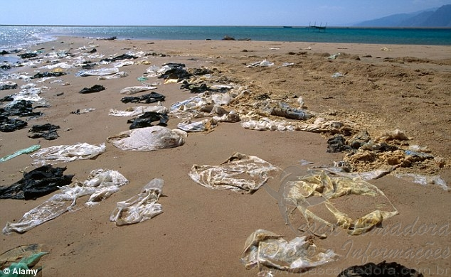 Plastico no mar da europa