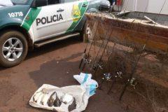 Policia Ambiental flagrada em pesca ilegal no Rio Piquiri-PR