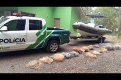 Policia Ambiental recolhe 1.200 metros de redes no Lago de Itaipu no Parana