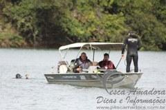 Policia ambiental em patrulha no Rio Grande-MG