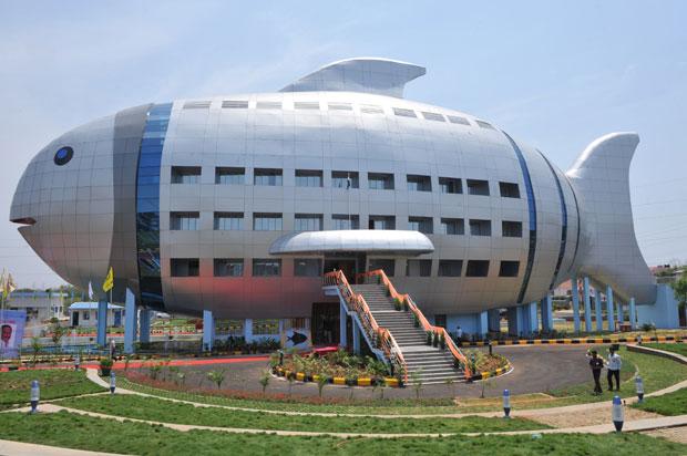 Predio em formato de peixe e inaugurado na India