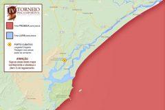 Quarto Torneio de Pesca de Cananeia-SP sera em setembro - mapa
