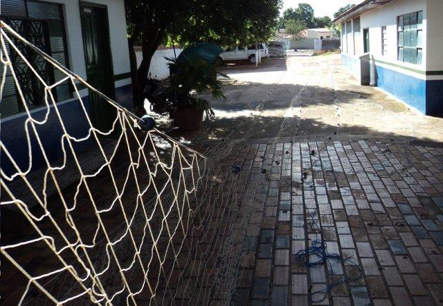 Rede de 140m apreendida no Rio Coxim