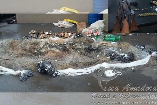 Redes de pesca apreendido pela Policia Ambiental de Goias