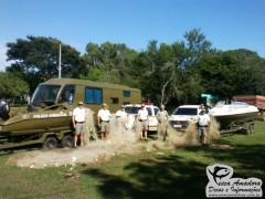 Redes de pesca apreendidos pela policia ambiental durante a fiscalizacao (Foto Divulgação: Patram-RS)