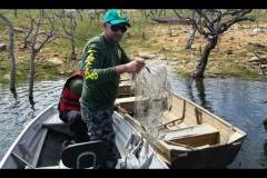 Secima apreende 31 redes e 37 kg de pescado ilegal na Serra do Facao-GO