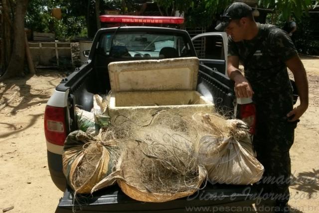 Semmac apreende pescado ilegal e redes em Fazenda na Serra do Facao-GO