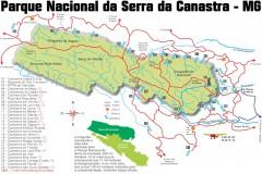 Serra da Canastra - Mapa do Parque