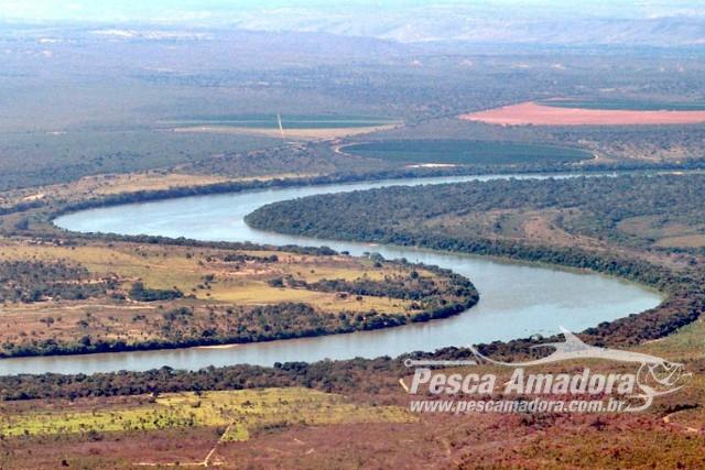 Trecho do rio Sao Francisco entre os municipios de Ponto Chique e Pirapora