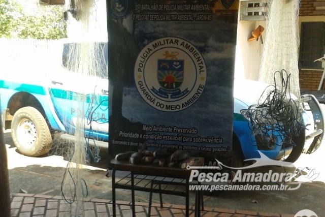 Tres adolescentes sao apreendidos por pesca predatoria no Rio Miranda em MS