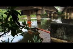 Vazamento de petroleo da Transpetro atinge rio Cubatao na Baixada Santista 2