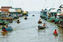 Vilarejo no Rio Mekong