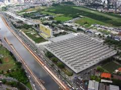 Vista aerea do complexo Anhembi na marginal Tiete