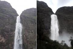 Volume do Rio Sao Francisco triplica a vazao de agua em Minas Gerais
