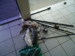Dois foram preso e o material e peixes apreendidos no rio tramandai no RS (Foto Divulgação: Patram)