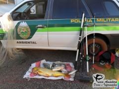 Policia ambiental do Paraná, faz apreensão e prende pescadores em Formosa do Oeste