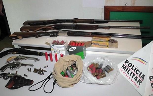 armas apreendidas em Arceburgo-MG