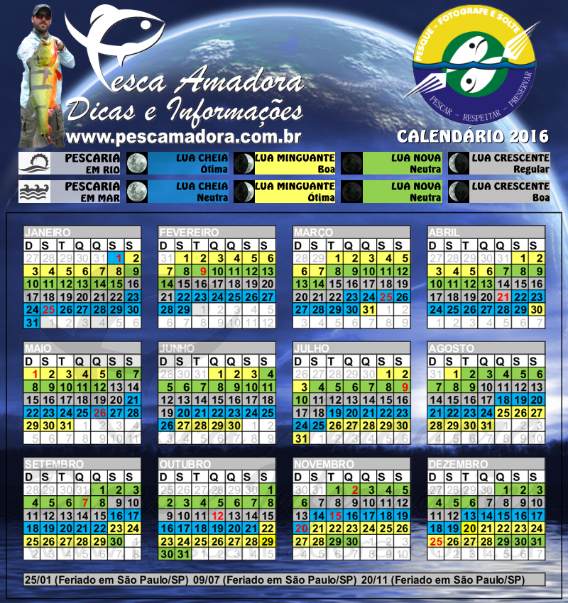 Calendario de pesca 2016 calendario de pesca 2016 search for Cambio lunar julio 2016