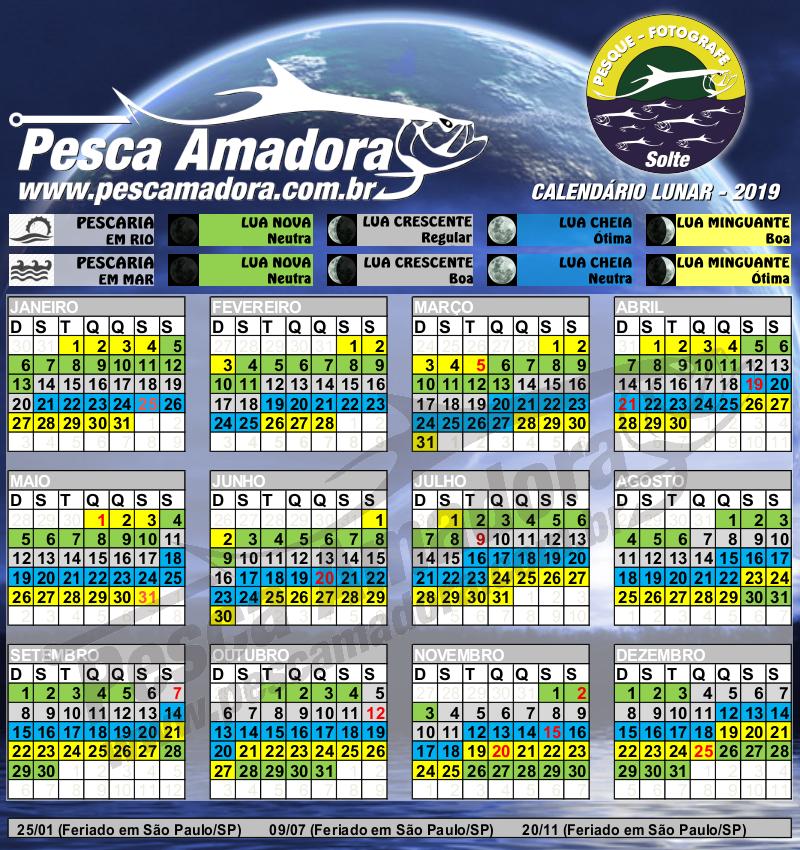 Calendario Pesca 2020.Calendario De Pesca Fases Da Lua Portal Pesca Amadora