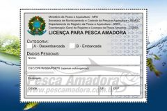 carteira de pesca amadora - licenca de pesca amadora