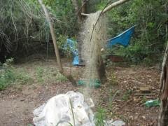 cinco mil metros de redes apreendido na reserva de Aracruz em ES